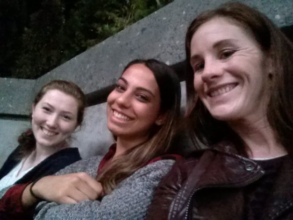 Chilling on set of The Flash with some very cool ladies