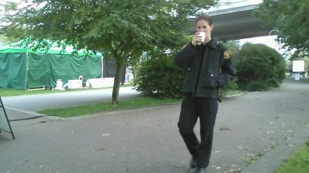 Background role as a cop on Backstrom tv series
